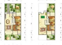A1户型 172㎡ 4室3厅5卫1厨 172.00㎡