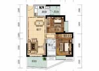 6栋A01、7栋B02户型 2室2厅1卫1厨 91.00㎡