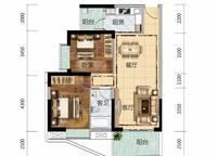 6栋A02、7栋B01户型 2室2厅1卫1厨 91.00㎡