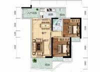 6栋B01、7栋A03户型 2室2厅1卫1厨 76.00㎡
