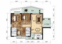 6栋A03、7栋B04户型 3室2厅2卫1厨 117.00㎡