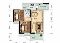 6栋B03、7栋A01户型 2室2厅1卫1厨 76.00㎡