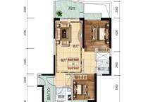 6栋B07、7栋A07户型 2室2厅1卫1厨 87.00㎡