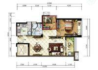 B1户型 2室2厅1卫1厨 87.00㎡