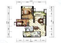 B3户型 2室2厅1卫1厨 78.00㎡