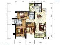 C2户型 3室2厅2卫1厨 111.00㎡