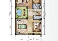 C新泰式联排别墅地下层平面图 4室4厅6卫1厨 215.00㎡