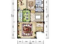 C新泰式联排别墅一层平面图 4室4厅6卫1厨 215.00㎡