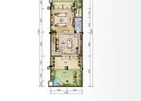 D2新泰式联排别墅地下一层平面图 3室4厅5卫1厨 182.00㎡