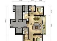 百合苑C2户型 3室2厅2卫1厨 139.00㎡