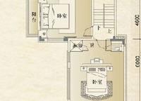别墅B(上层) 2室0厅2卫1厨 0.00㎡