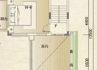 别墅B第三层户型 1室0厅1卫1厨 0.00㎡
