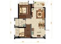 A户型:2室2厅1卫62平米 2室2厅1卫1厨 62.00㎡