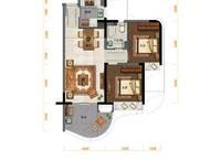 C户型:2室2厅1卫77平米 2室2厅1卫1厨 77.00㎡