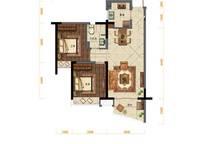D户型:2室2厅1卫75平米 2室2厅1卫1厨 75.00㎡