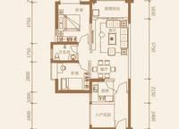 1-A户型:2室2厅1卫78平米 2室2厅1卫1厨 78.00㎡
