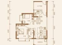 1-C户型:2室2厅1卫88平米 2室2厅1卫1厨 88.00㎡