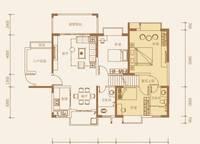 2-A户型:3室2厅2卫135平米 3室2厅2卫1厨 135.00㎡