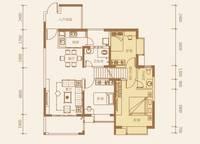 2-B户型:3室2厅2卫113平米 3室2厅2卫1厨 113.00㎡