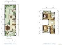 雅居乐月亮湾别墅户型图C1 3室2厅3卫1厨 198.00㎡