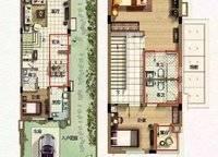 A01果岭牧歌Gn型别墅户型 3室2厅3卫1厨 112.00㎡