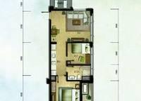 棕榈苑 G5-6户型 两室两厅一卫 75㎡ 2室2厅1卫1厨 75.00㎡