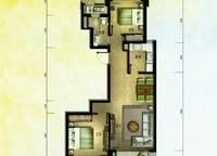 棕榈苑 G7-3户型 两室两厅一卫 89.57㎡ 2室2厅1卫1厨 89.57㎡