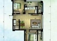 棕榈苑 G7-1户型 两室两厅一卫 95.42㎡ 2室2厅1卫1厨 95.42㎡