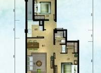 棕榈苑 G1-4户型 两室两厅一卫 100.51㎡ 2室2厅1卫1厨 100.51㎡