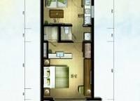 棕榈苑 G6-5户型 一室一厅一卫 49.44㎡ 1室1厅1卫1厨 49.44㎡