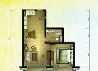棕榈苑 G6-3户型 一室两厅一卫 73.93㎡ 1室2厅1卫1厨 73.93㎡