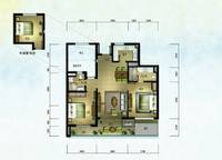 棕榈苑 G2-2户型 两室两厅两卫 103.46㎡ 2室2厅2卫1厨 103.46㎡