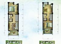 棕榈苑 G1-3'下跃户型 两室两厅两卫 123.49㎡ 2室2厅2卫1厨 123.49㎡