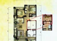 棕榈苑 G2-1户型 三室两厅两卫 126.79平方米 3室2厅2卫1厨 125.79㎡