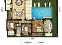 麓云居D1户型 四房两厅三卫 144㎡ 4室2厅3卫1厨 144.00㎡