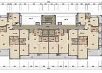 棕榈苑2、3号楼平层图 2室2厅1卫1厨 0.00㎡