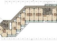 棕榈苑5、9号楼平层图 2室2厅1卫1厨 0.00㎡