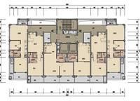 棕榈苑6、8号楼平层图 2室2厅1卫1厨 0.00㎡