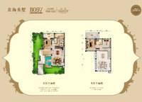 98平米四拼别墅户型图 2室2厅2卫1厨 98.12㎡