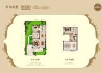 109平米双拼别墅-二楼赠送56平米户型图 1室3厅2卫1厨 109.61㎡