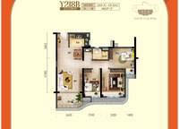 二线海景洋房户型图Y218B 3室2厅1卫1厨 98.80㎡