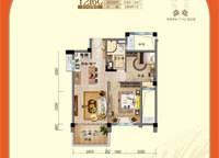 一线揽海洋房---- 3室2厅1卫1厨 92.80㎡