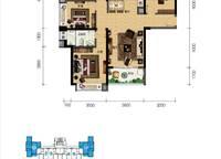 听海洋房四房户型 4室2厅2卫1厨 113.00㎡