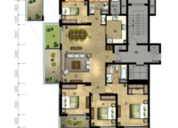 丹桂苑D1户型 四室两厅两卫 167㎡ 4室2厅2卫1厨 167.00㎡