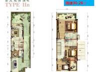 A01果岭牧歌HN型别墅户型图 4室2厅3卫1厨 127.00㎡