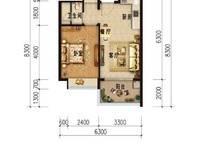 B户型 一房一厅一卫 55㎡ 1室1厅1卫1厨 55.00㎡