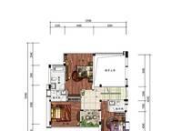 B3户型 四室三厅四卫 288㎡ 4室3厅4卫1厨 288.00㎡