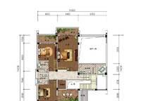 C2户型 四房两厅四卫 339㎡ 4室2厅4卫1厨 339.00㎡