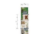 C6户型 两房两厅三卫 187㎡ 2室2厅3卫1厨 187.00㎡