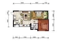 A15户型 两房一厅一卫  63㎡ 2室1厅1卫1厨 63.00㎡